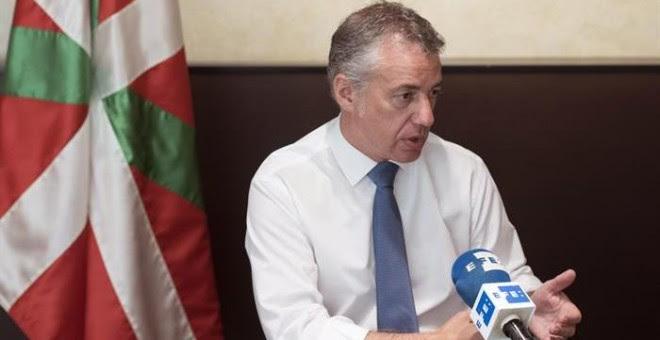El lehendakari y candidato del PNV a la reelección, Iñigo Urkullu, durante la entrevista/EFE
