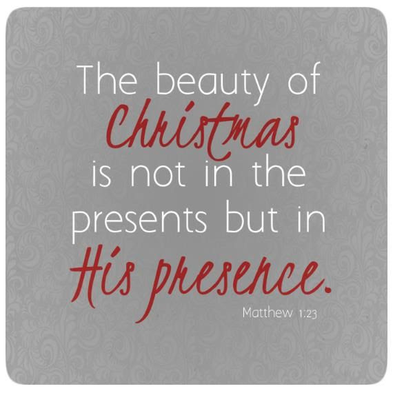 Look to Him for He is God's Present to us!