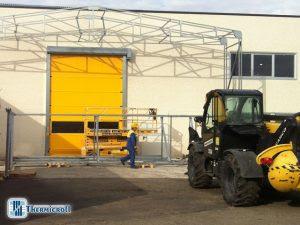 montaggio del tunnel mobile e precedenti chiusure industriali in Umbria
