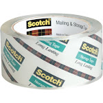 Scotch Long Lasting Moving & Storage Packaging Tape, Clear, 1.88 in x 43.7 yd