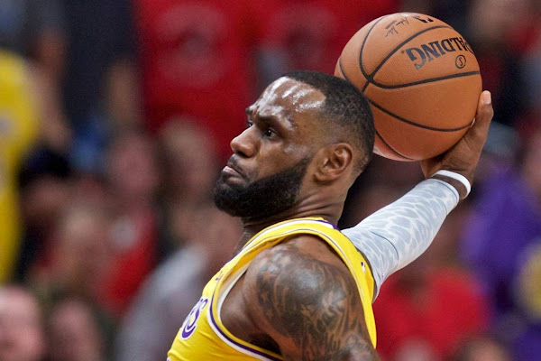 017e3fbf1686 LeBron James in slamming double-double LA Lakers debut defeat to Trail  Blazers