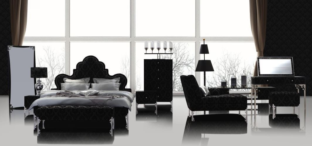 Black and white shabby chic layout