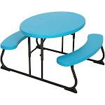 Kids Oval Patio Picnic Table Blue Glacier - Lifetime