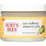 Burts Bees Remover Pads, Eye Makeup, with Kiwi Extract - 35 pads