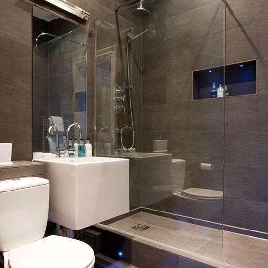 Modern grey bathroom   Hotel-style bathrooms ideas ...