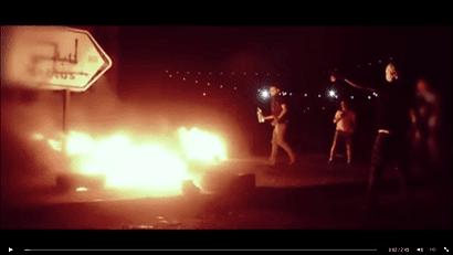 Abu Wadih Duheir - video screenshot swastika