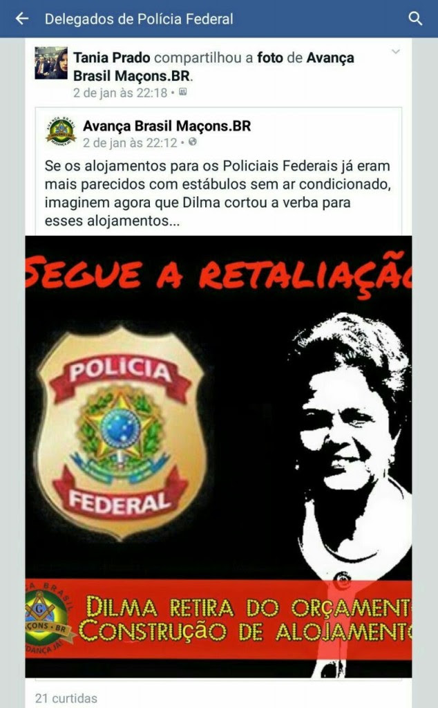 Face DPF 21 Dilma Maços
