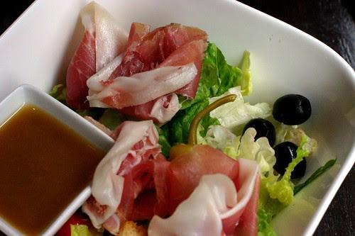 Garden Salad with Crispy Greens
