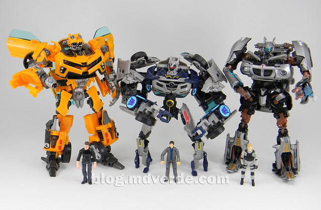 Transformers Soundwave Human Alliance - DotM - modo robot vs Bumblebee vs Jazz