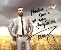 Tarkan with love; the artist's personal message to Number 1 used as opening title in the special weekend show