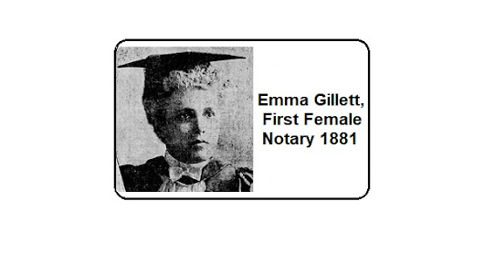 Emma Gillett, First Female Notary 1881 - Notary Colorado Springs