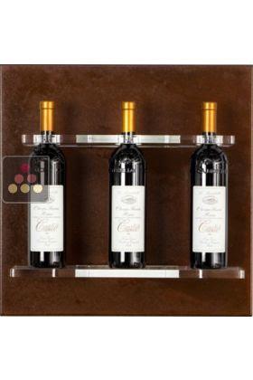 Wall Wine Rack In Plexiglass For 3 Bottles Enoofficina Aci Eof101