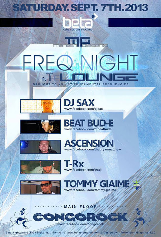 Live @ Beta Nightclub : Mahesh and Fundamental Frequencies Presents: Freq Night In The Lounge