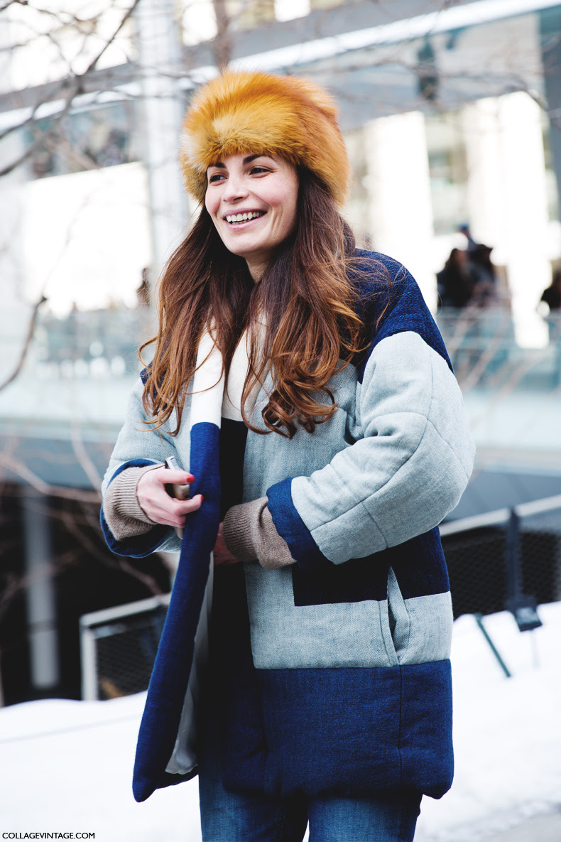New_York_Fashion_Week-Street_Style-Fall_Winter-2015-Fur_Hat-