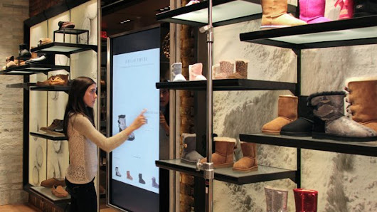 UGG brings interactive signage to new concept store