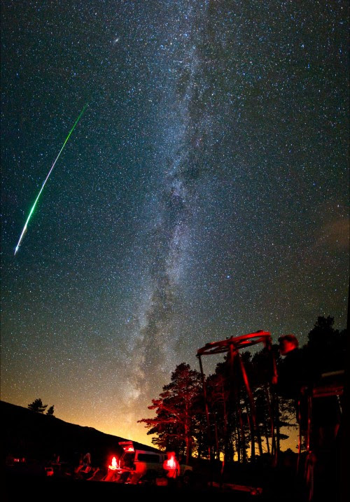 Observer Et Photographier Les étoiles Filantes Autour Du Ciel