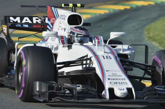 Williams' Canadian driver Lance Stroll powers through a... (AFP)
