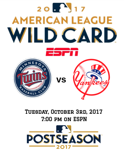 One Game In New York - Yankees vs Twins - 2017 AL Wild Card