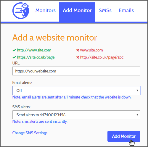 how to monitor a website