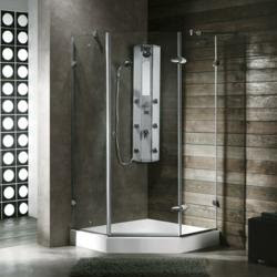 A Tip Sheet on Shower Doors vs. Shower Curtains is introduced by ...