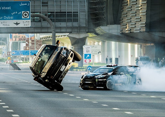 This is INSANE!  Ken Block Drifting Around In Dubai