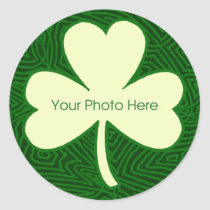 Scribbleprint Shamrock Border Round Stickers
