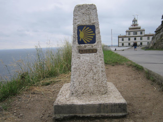 0,00km marker at Cape Finisterre/Fisterra (the end of the world)