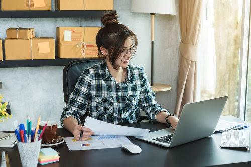 Online business owner improving ecommerce sales