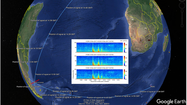 Dos sensores a 7000 kilómetros y otro a unos 10.000 kilómetros de distancia registraron el suceso