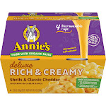 Annie's Deluxe Rich & Creamy Shells & Classic Cheddar Macaroni & Cheese Microwavable Cup