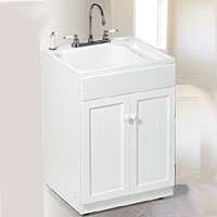 American Shower & Bath Utility Sink Cabinet Kit Spray By American