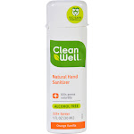 CleanWell Natural Hand Sanitizer - Orange Vanilla, 1 Ounce