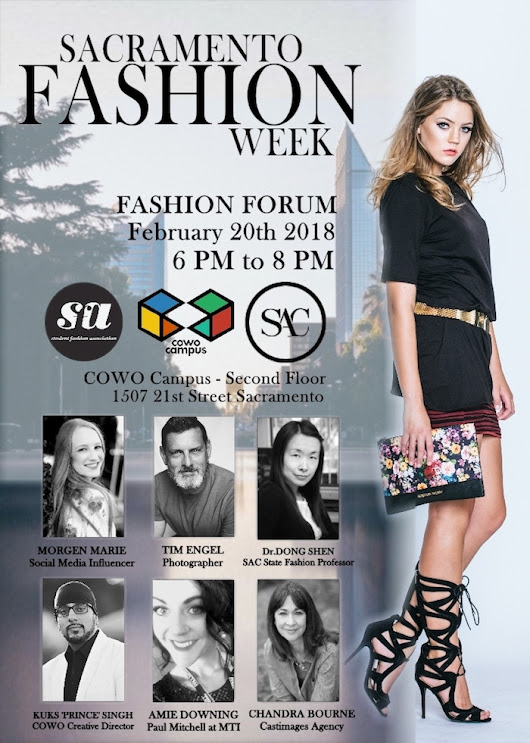 Sacramento Fashion Week 'Fashion Forum' at the COWO Campus Feb. 20, 2018 - Fashion Law | Fashion Lawyer | Fashion Law Speaker