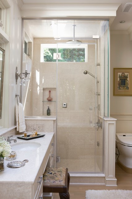 Small Master Bath in Chevy Chase - Traditional - Bathroom ...