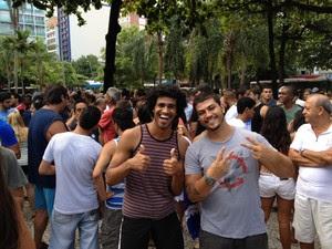 Mineiros contam que são apaixonados pelo carnaval do Rio (Foto: Marcelo Elizardo / G1)