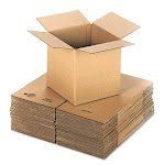 Cubed Fixed-Depth Shipping Boxes, Regular Slotted Container (RSC), 12&