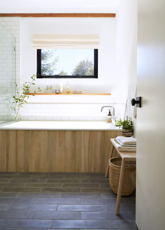Bathroom of the Week: A Spa-Like Sanctuary in a Sonoma County Cottage - Remodelista