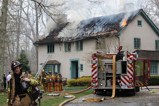 Fire heavily damages Wilton house