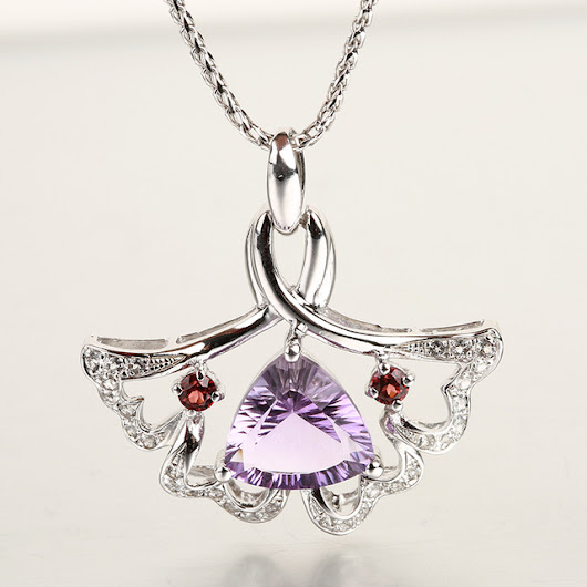 Aliexpress.com : Buy Robira Genuine 925 Silver Cute Skirt Pendant Necklaces Natural Amethyst Crystal Jewelry For Women Fashion Dance Necklace from Reliable jewelry crystal necklace suppliers on Robira_Jewelry Store