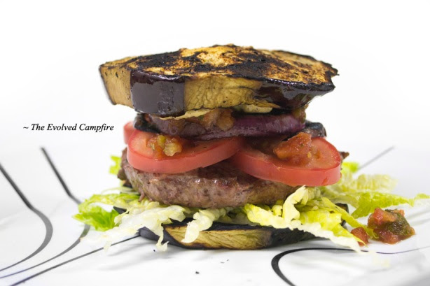 Eggplant Hamburger Bun Low Carb Paleo