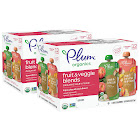 Campbell Sales Company Plum Organics Stage 2 Apple & Broccoli and Peach, Banana & Apricot 2x12-count Variety Pack (Two Boxes)