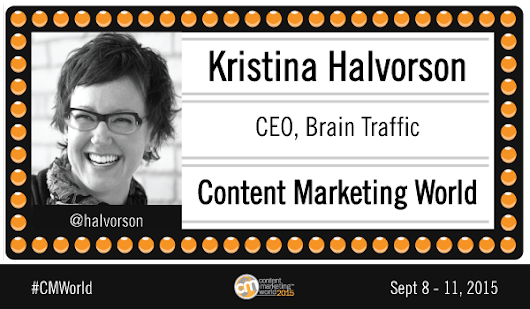 Interview: Content Strategy Words of Wisdom from Kristina Halvorson #CMWorld