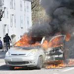 Vidéo. Une voiture complètement embrasée ce dimanche en fin de matinée à Vesoul