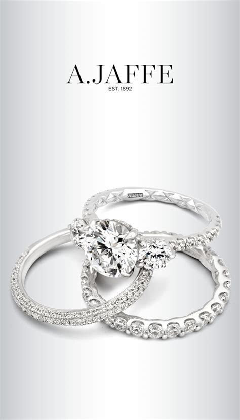 A.JAFFE Quilted Collection Engagement Rings and Wedding