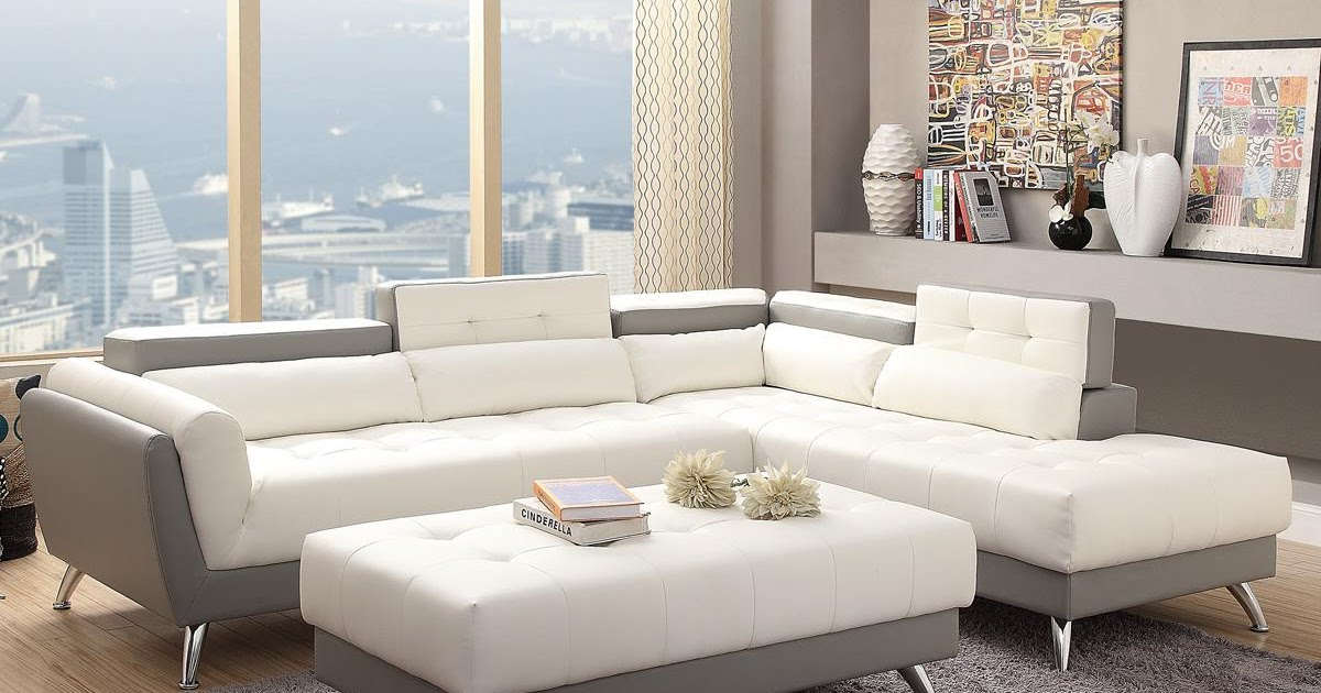 White Leather Sectional Sofa Stealasofa Furniture Outlet Los Angeles Ca Dinamic News