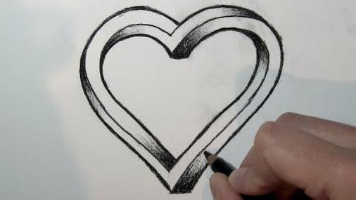 Comment dessiner un coeur 3d tape par tape pour voir d - Comment dessiner un coeur ...