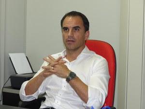 Rodrigo Caetano diretor executivo Flamengo (Foto: Fred Gomes)