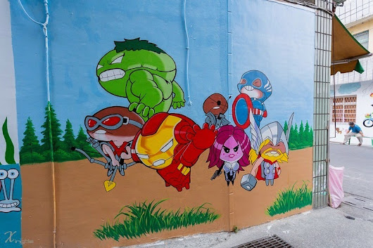 Taiwanese Village Transforms Itself With Cartoon Murals