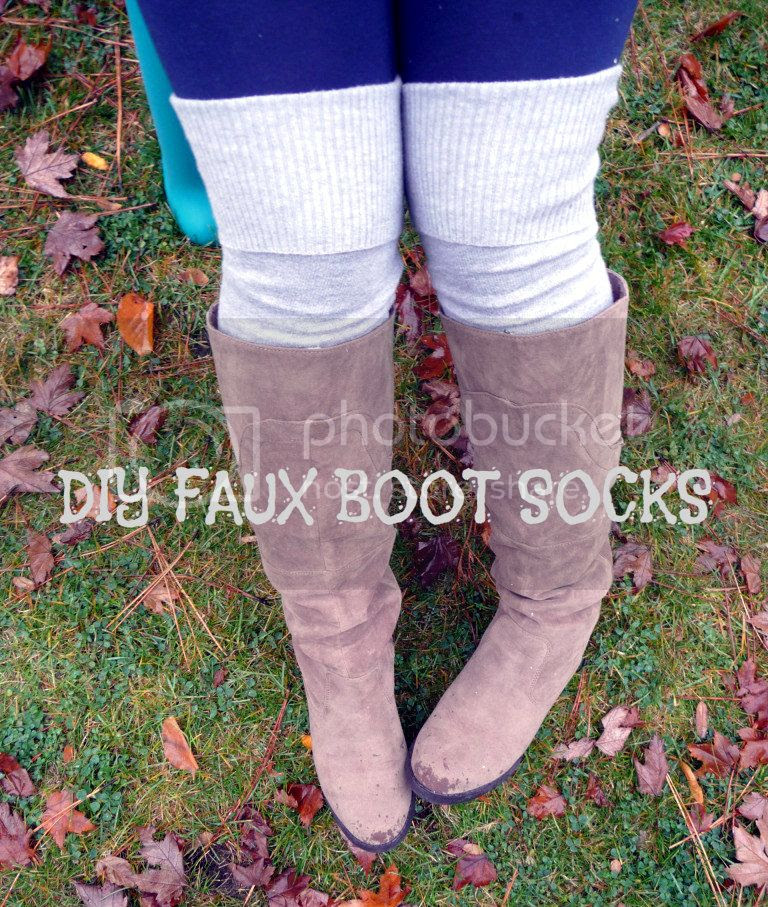 diy faux boot socks from an old sweater