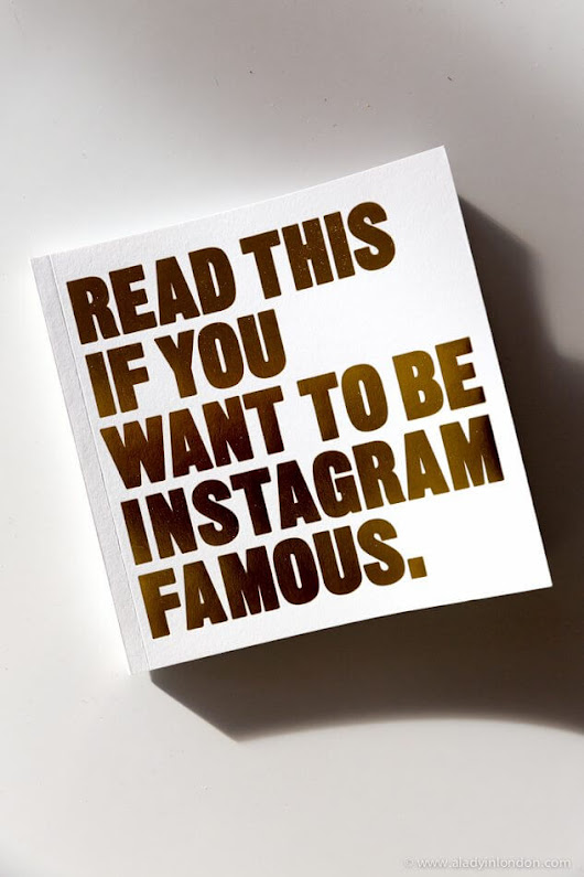 Get 20% Off the Read This if You Want to Be Instagram Famous Book